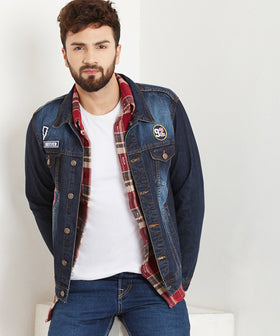 Yepme Graham Dark Wash Denim Jacket - Blue