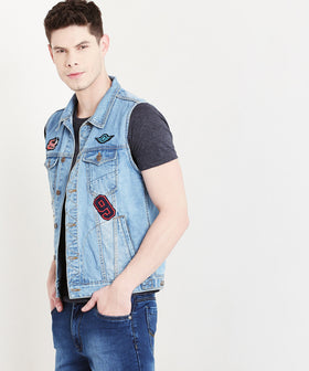 Yepme Morgan Teen Patch Denim Jacket - Blue