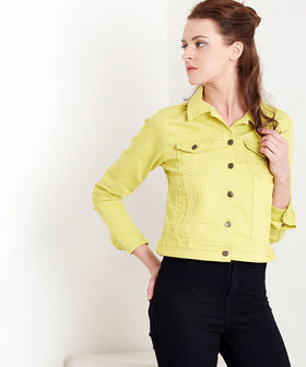 Yepme Harriet Overdyed Jacket - Yellow