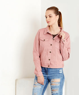 Yepme Harriet Overdyed Jacket - Pink