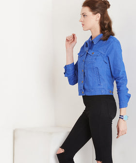 Yepme Harriet Overdyed Jacket - Blue