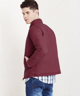 Yepme  Larry Quilted Jacket - Maroon