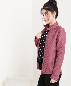 Yepme  Miley Quilted Jacket - Maroon