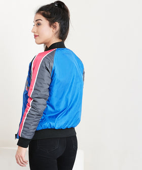Yepme Joyce Bomber Jacket - Blue & Grey
