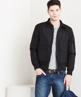 Yepme Manfred Utility Flight Bomber Jacket - Black