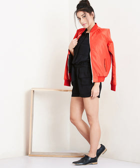 Yepme Stella Bomber Jacket - Orange