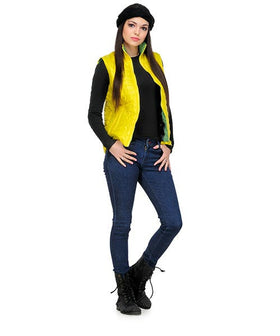 Yepme Hannah Sleeveless Bomber Jacket-Yellow