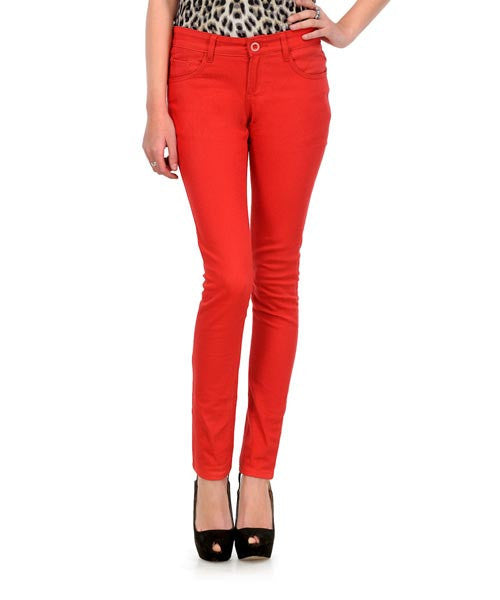 Yepme Nelly Colored Pants- Aurora Red