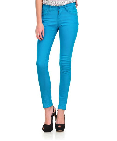 Yepme Nelly Colored Pant- Peacock Blue