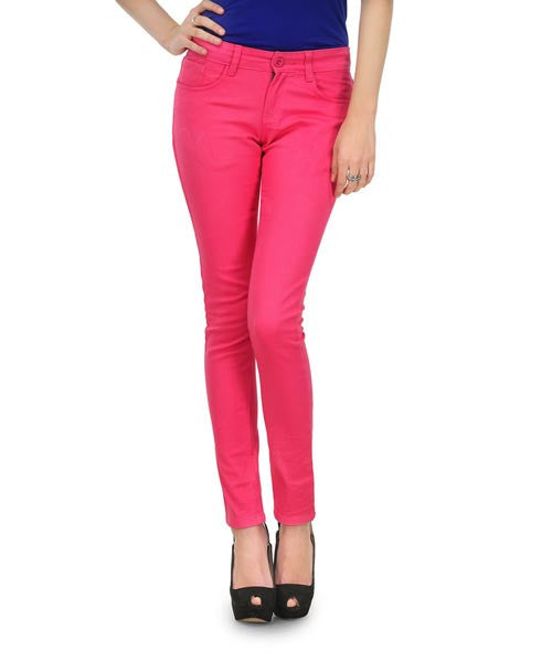 Yepme Nelly Colored Pant- Hot Pink