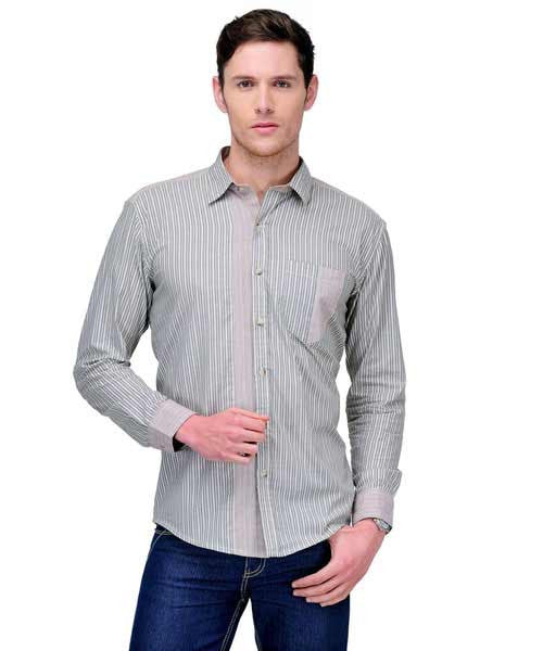 Yepme Roger Stripes Shirt - Grey