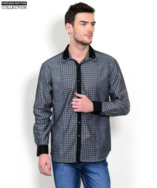 Yepme Ernest Check Shirt - Grey
