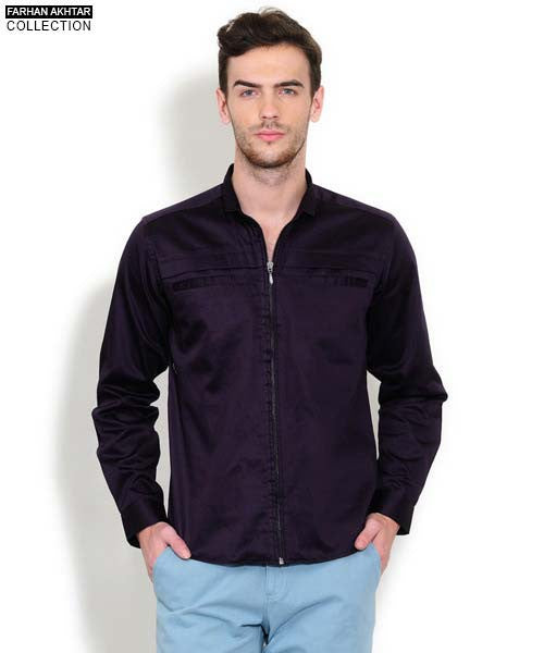Yepme Andrew Solid Shirt - Purple