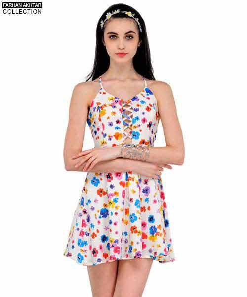 Yepme Wendy Floral Dress - White