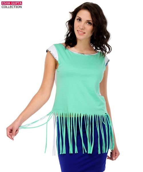 Yepme Lucy Fringe Top - Green