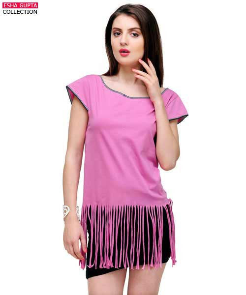 Yepme Lucy Fringed Top - Pink