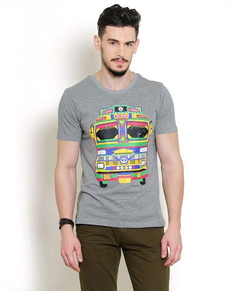 Yepme Indian Truck Tee - Grey