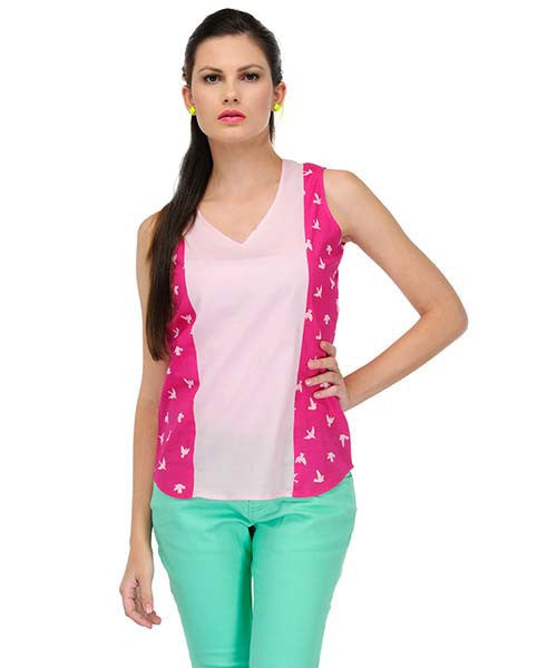 Yepme Bruna Printed Top - Pink