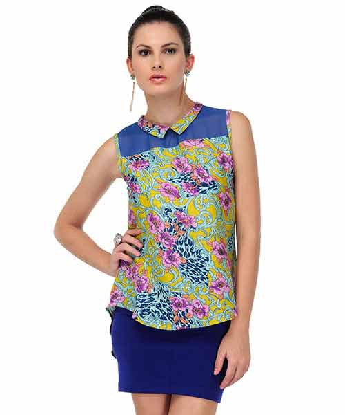 Yepme Remie Floral Top - Blue