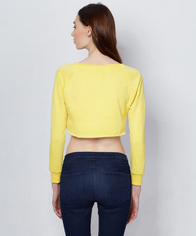 Yepme Lucy Crop Sweat - Yellow