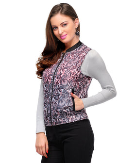 Yepme Veronica Sleeveless Jacket - Black & White