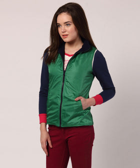 Yepme Diana Reversible Jacket - Green & Blue