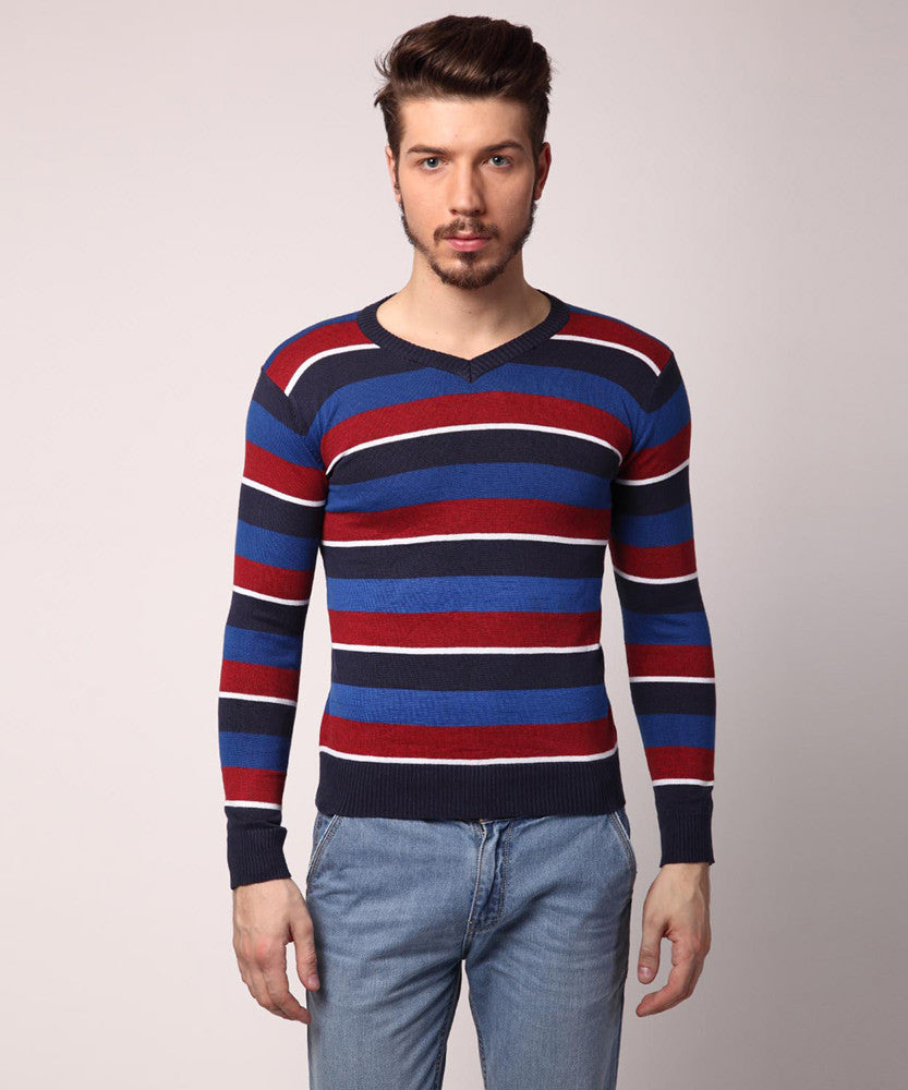 Yepme Mikel Sweater - Blue & Red
