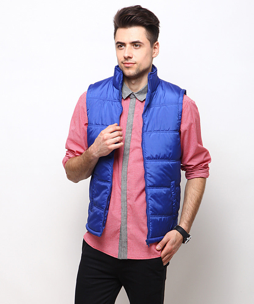Yepme Barrett Full Sleeves Jacket - Royal Blue
