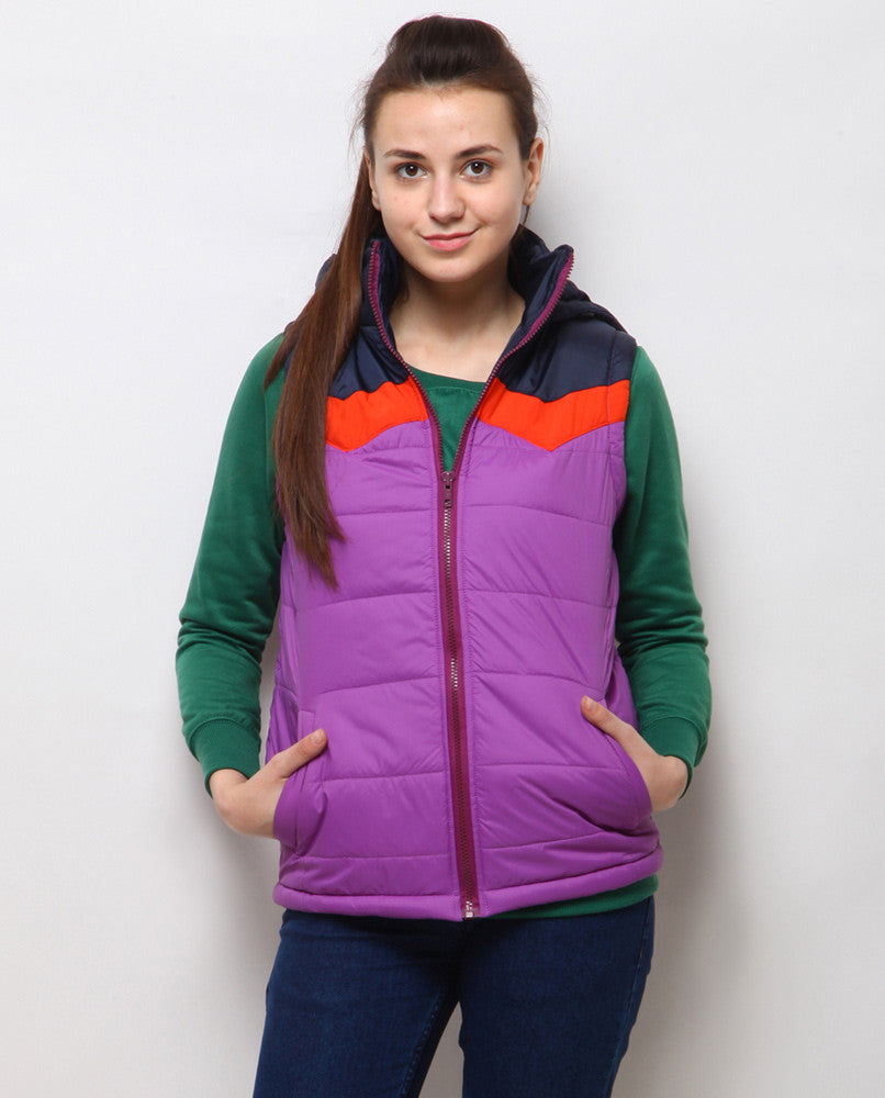 Yepme Abigail Sleeveless Jacket - Purple