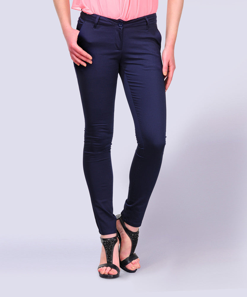 Yepme Hannah Colored Pants - Blue