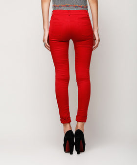Yepme Amber Colored Pants - Red