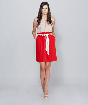 Yepme Kacey Midi Skirt - Red