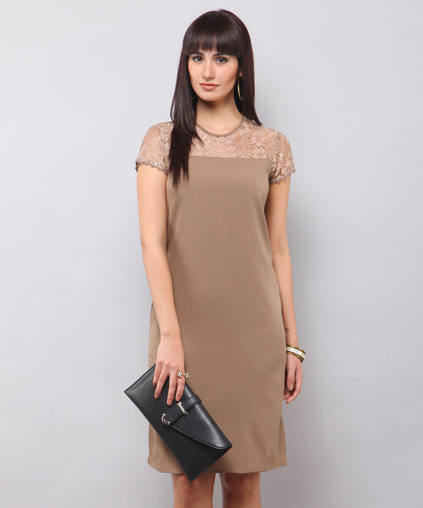 Yepme Trina Lace Dress - Olive Green