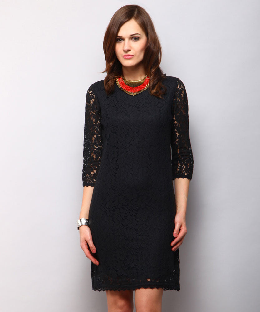 Yepme Brendal Lace Dress - Black