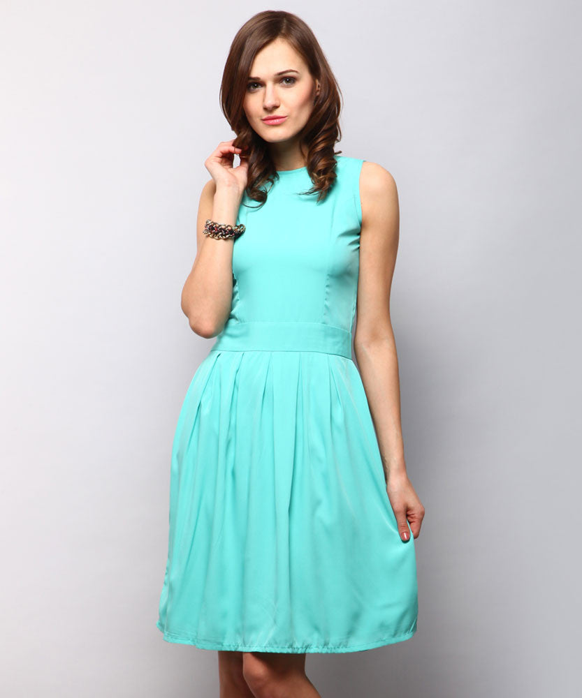 Yepme Kate Skater Dress - Blue