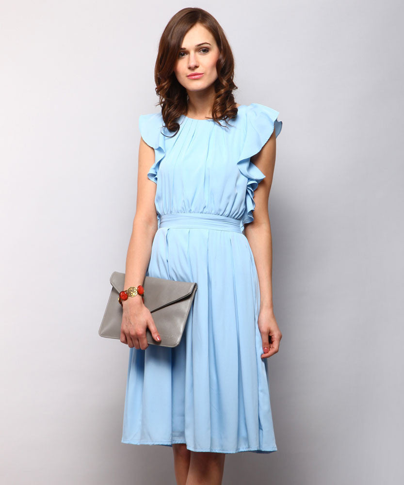 Yepme Marina Ruffle Dress - Blue