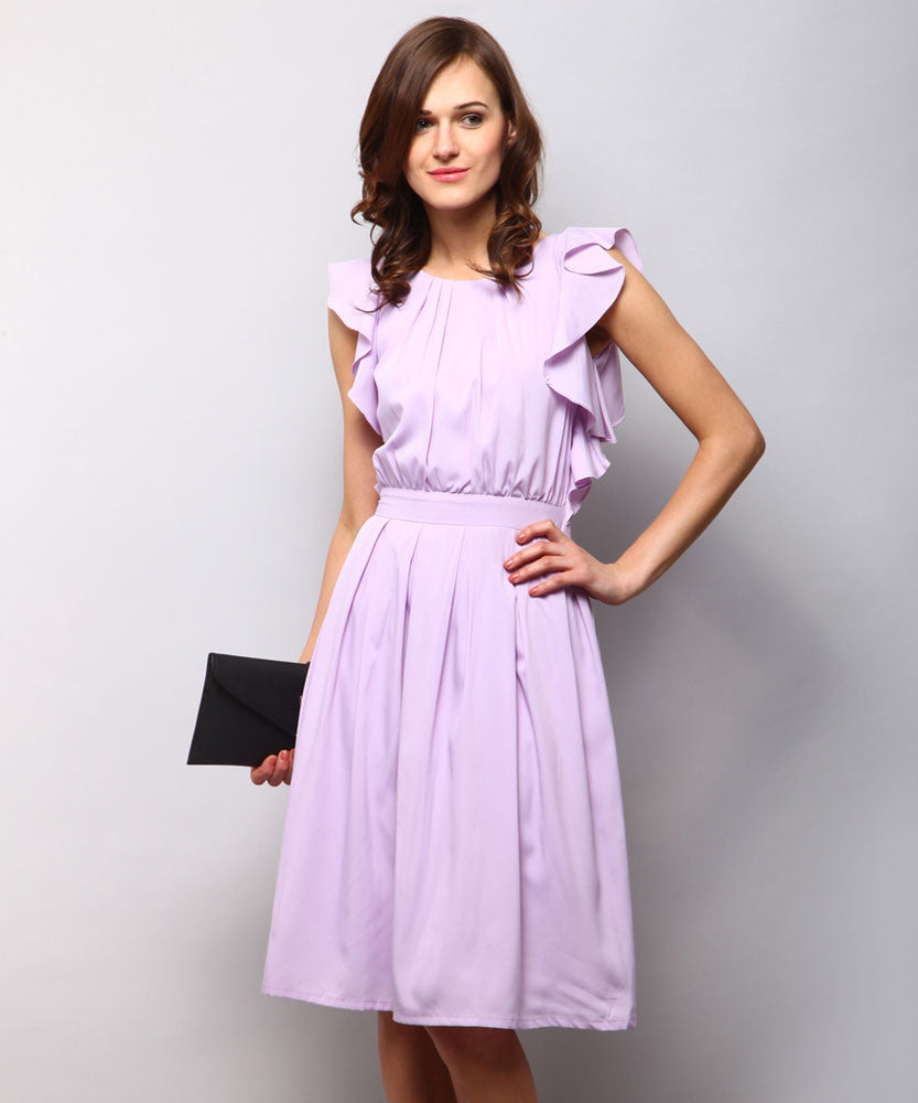 Yepme Marina Ruffle Dress - Lavender