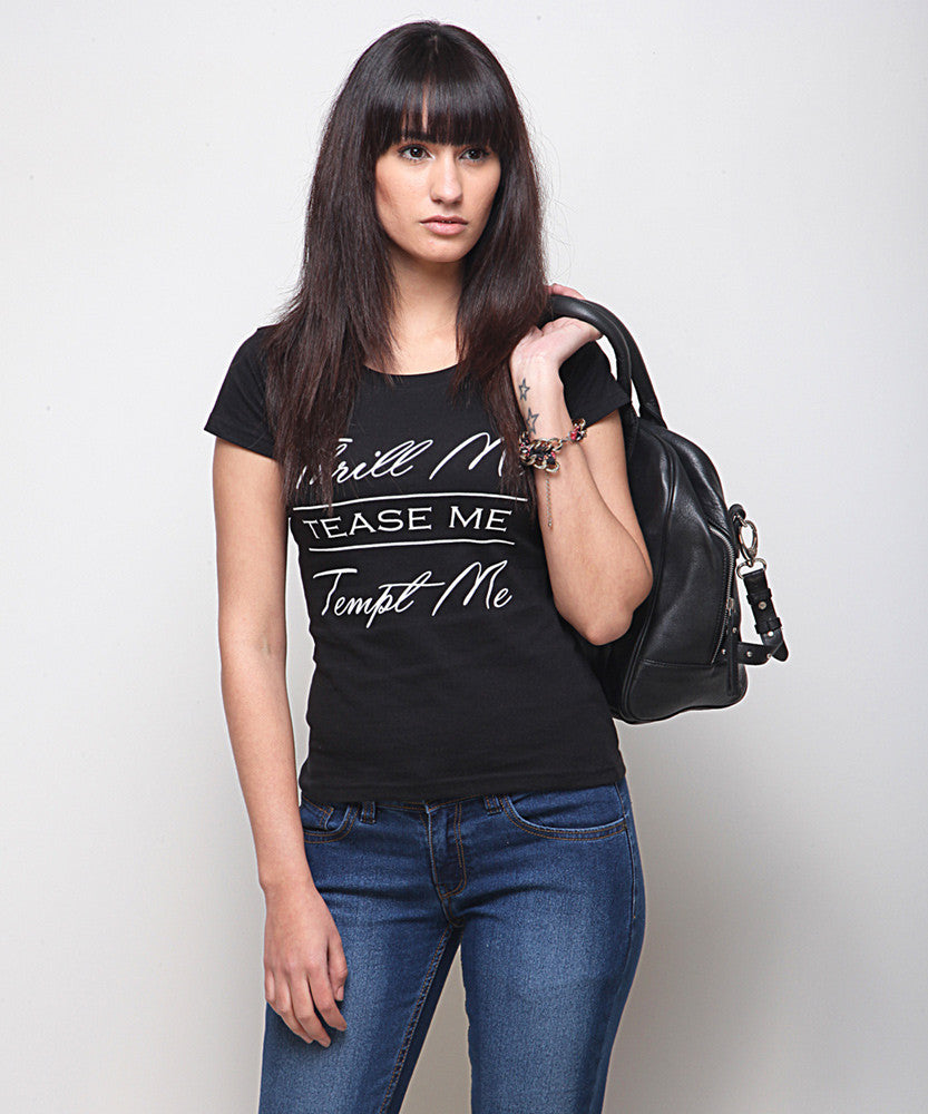 Yepme Thrill Me Tee - Black