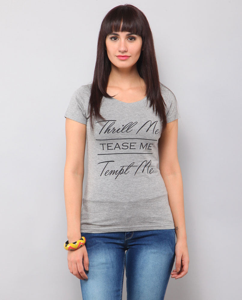 Yepme Thrill Me Tee - Grey