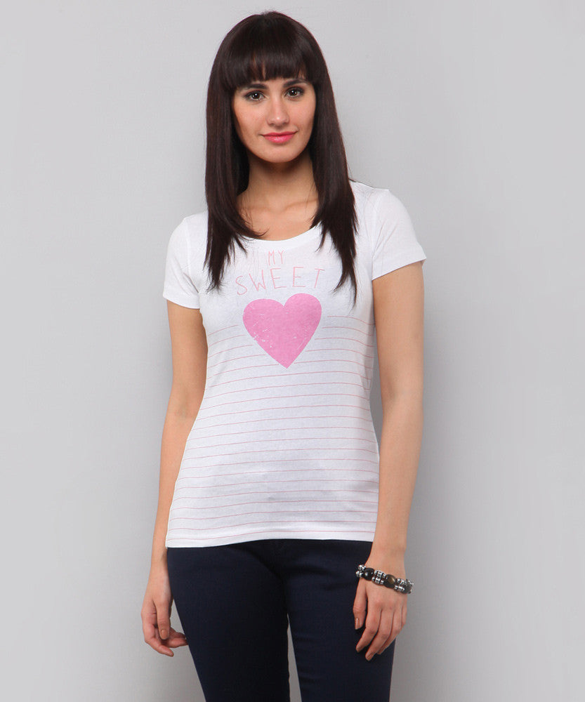 Yepme My Sweetheart Tee - White