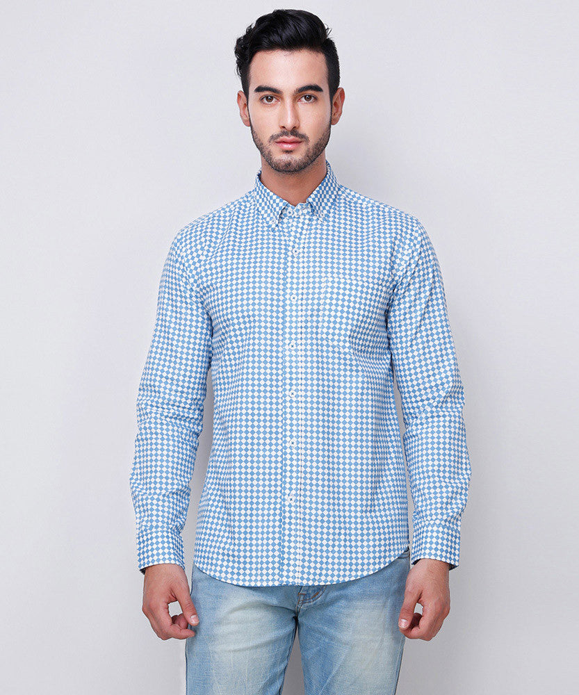 Yepme Arlen Printed Shirt - Blue
