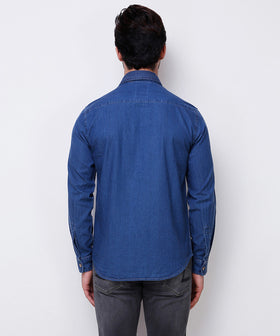 Yepme Wilbur Denim Shirt - Medium Wash