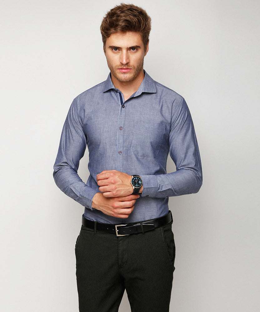 Yepme Bryan Formal Shirt - Blue