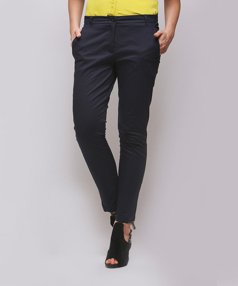 Yepme Bessy Formal Trouser - Navy Blue