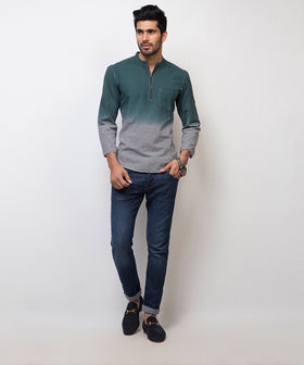 Yepme Wayne Check Kurta Shirt - Green & Black