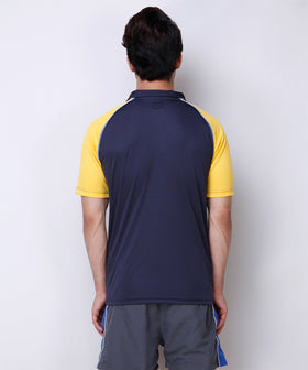 Yepme Tanner Sports Polo - Blue & Yellow