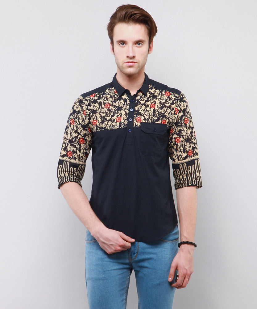 Yepme Jeffer Printed Kurta Shirt - Blue