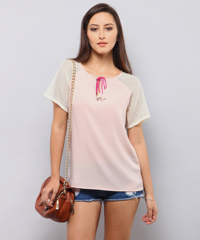 Yepme Rochella Tie-up Top - Pink