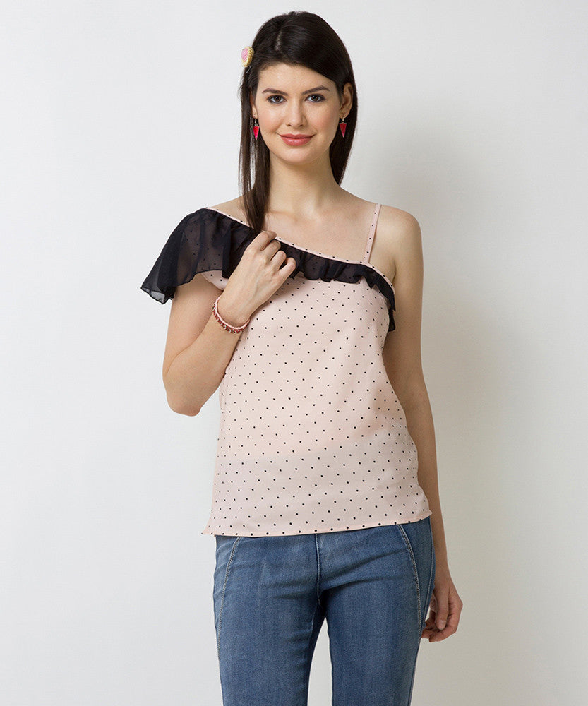 Yepme Briana One Shoulder Top - Pink