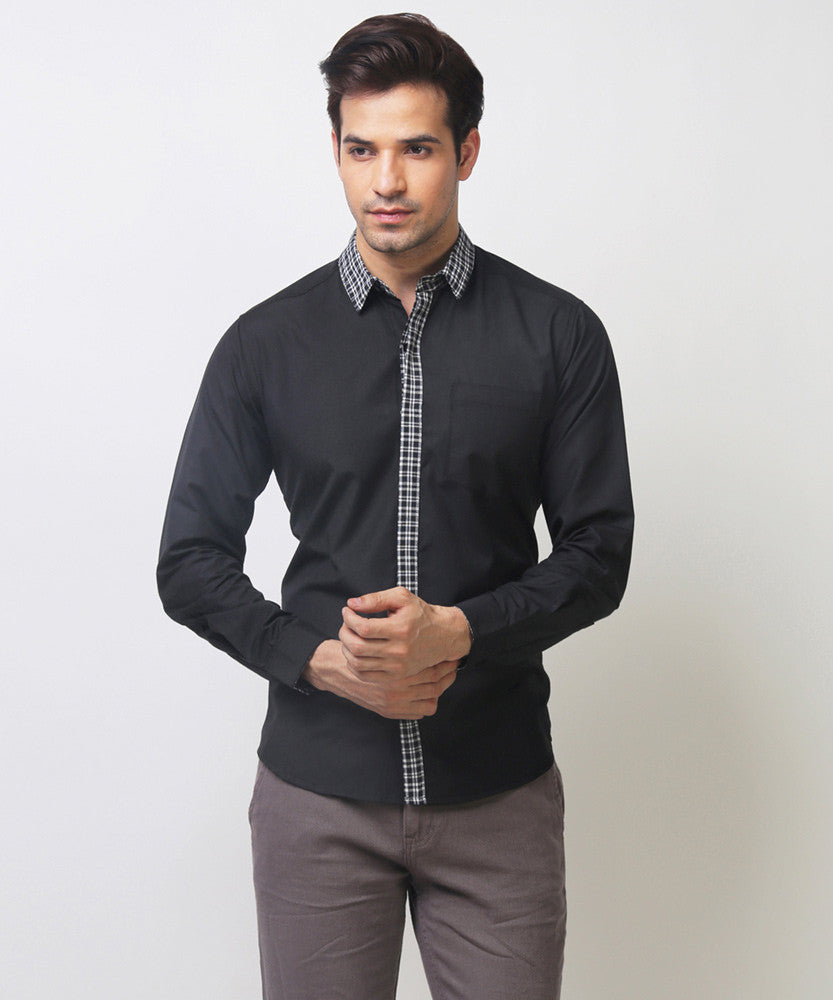 Yepme Stefan Solid Shirt - Black